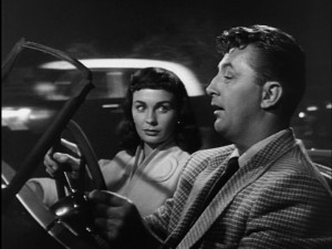 "Simmons & Mitchum in ""Angel Face"""